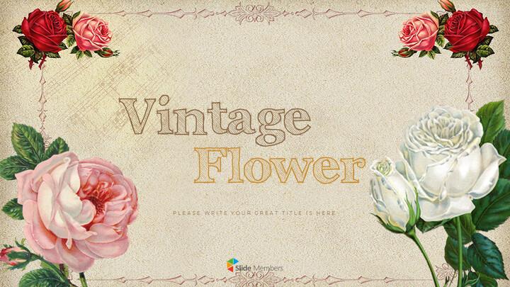 Vintage Flower PowerPoint Presentation PPT_01
