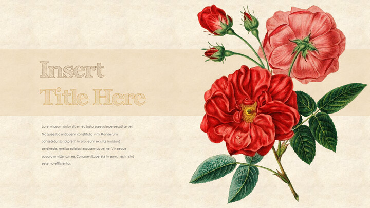 Vintage Flower PowerPoint Presentation PPT_02
