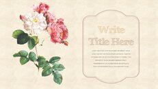 Vintage Flower PowerPoint Presentation PPT_03