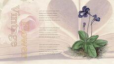 Vintage Flower PowerPoint Presentation PPT_04