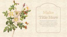 Vintage Flower PowerPoint Presentation PPT_07