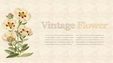 Vintage Flower PowerPoint Presentation PPT_08