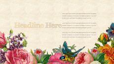 Vintage Flower PowerPoint Presentation PPT_10