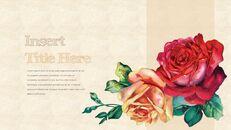 Vintage Flower PowerPoint Presentation PPT_15