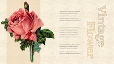 Vintage Flower PowerPoint Presentation PPT_16