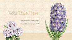 Vintage Flower PowerPoint Presentation PPT_22