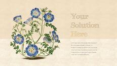 Vintage Flower PowerPoint Presentation PPT_23