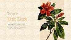 Vintage Flower PowerPoint Presentation PPT_24