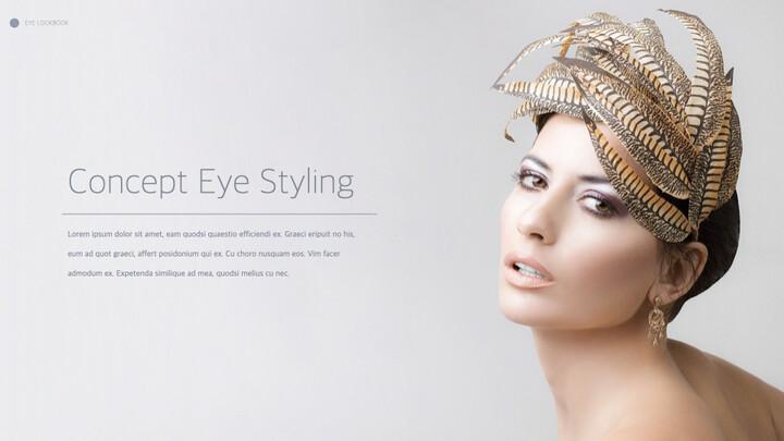 Eye Makeup template keynote free_02
