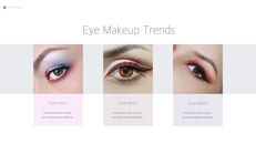 Eye Makeup template keynote free_05