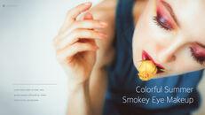 Eye Makeup template keynote free_11
