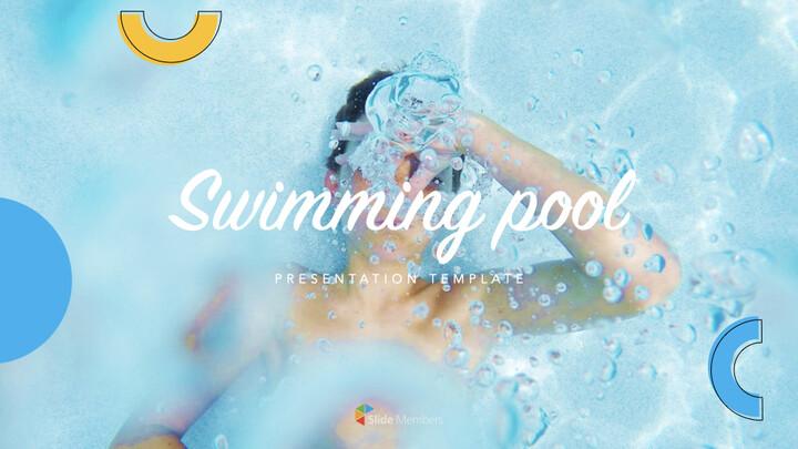 Swimming Pool template keynote free_01