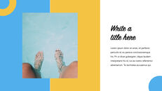 Swimming Pool template keynote free_20