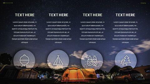 캠핑 프레젠테이션용 Google 슬라이드 테마_05