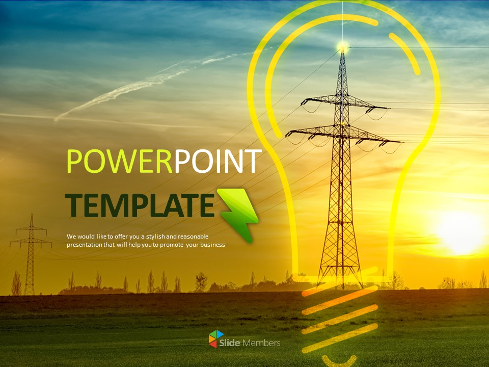 Electric Energy Free Template Design
