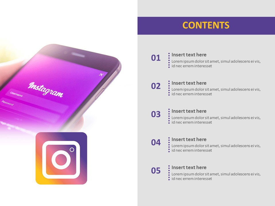 Free Ppt Template Instagram