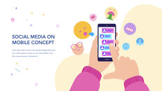 Social Media on Mobile Concept PowerPoint for mac_22