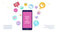 Social Media on Mobile Concept PowerPoint for mac_29