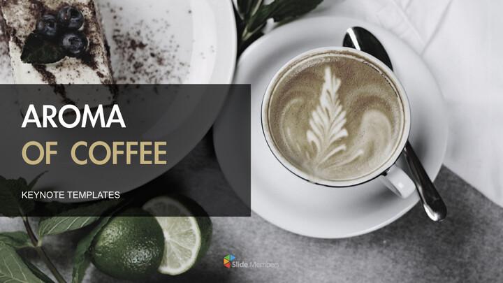 커피의 향기 키노트 템플릿_01