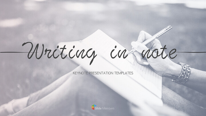 Writing in Note Keynote Templates_01