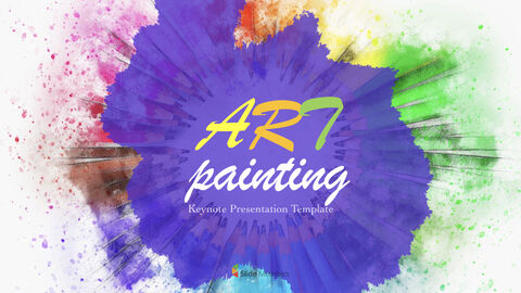 Art Painting Simple Keynote Template_01