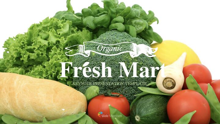신선한 마트, 유기농, 신선한 음식, 농장 상점 키노트 디자인_01