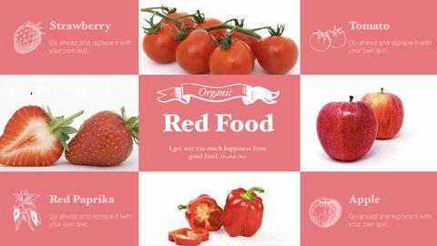 신선한 마트, 유기농, 신선한 음식, 농장 상점 키노트 디자인_09