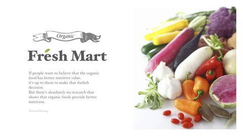 신선한 마트, 유기농, 신선한 음식, 농장 상점 키노트 디자인_14