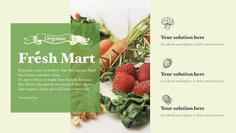 신선한 마트, 유기농, 신선한 음식, 농장 상점 키노트 디자인_18