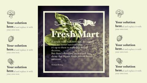 신선한 마트, 유기농, 신선한 음식, 농장 상점 키노트 디자인_30