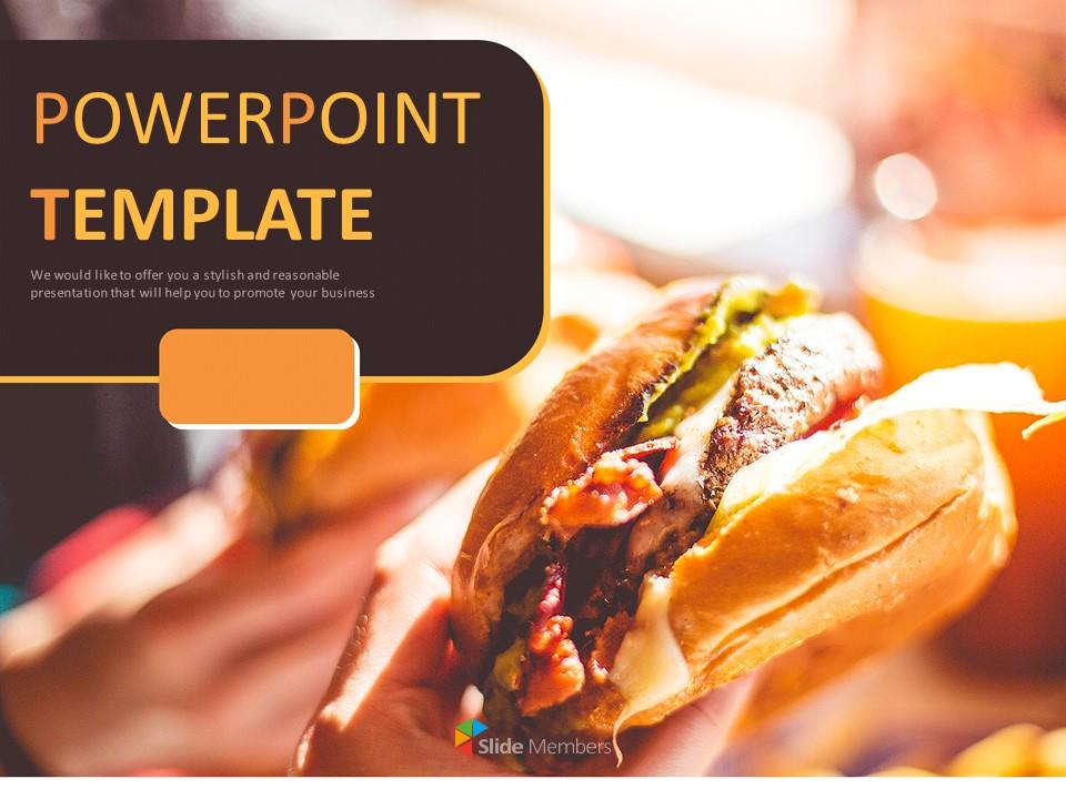 Delicious Hamburger Free Powerpoint Sample