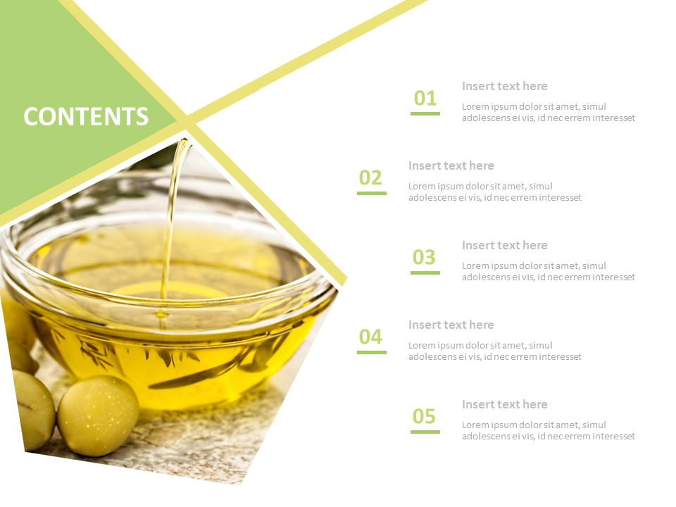 Free Powerpoint Template Olive Oil
