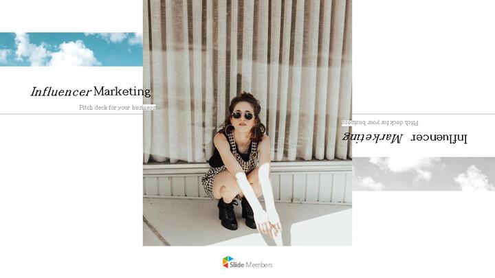 인플루언서 마케팅 피치 심플한 Google 슬라이드 템플릿_01