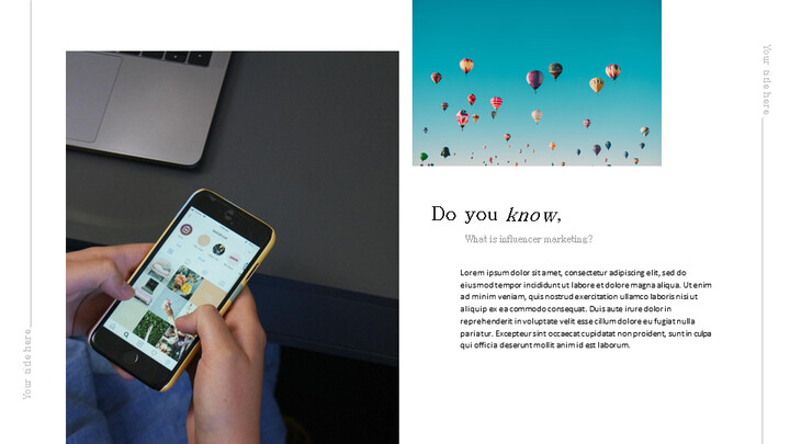 인플루언서 마케팅 피치 심플한 Google 슬라이드 템플릿_02