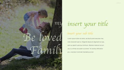 사랑하는 가족 멀티 프레젠테이션 키노트 템플릿_05