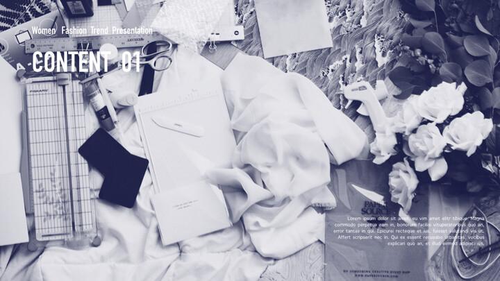 여성 패션 트렌드 멀티 프레젠테이션 키노트 템플릿_02