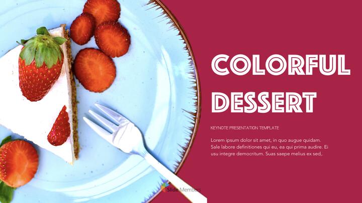 <span class=\'highlight\'>Colorful</span> Dessert Keynote Templates_01