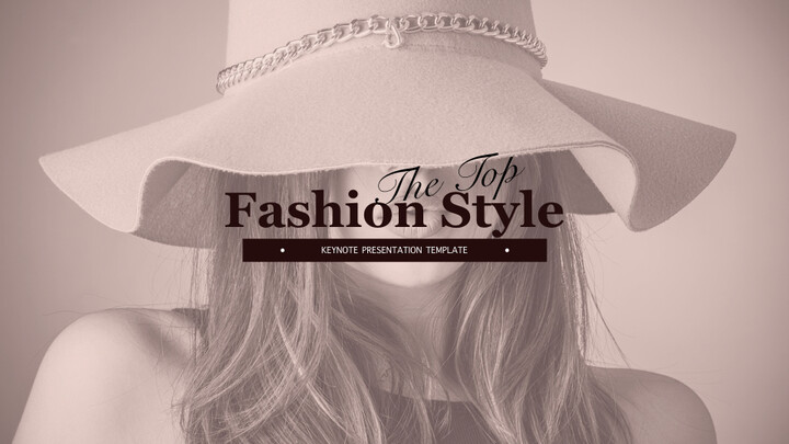 Fashion Style Simple Keynote Template_01