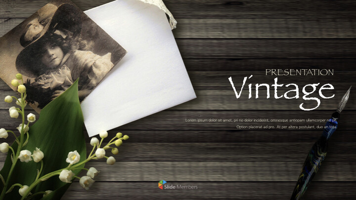 Vintage theme Keynote Presentation Template_01