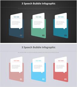 3 Speech Bubble Infographic 다이어그램_00