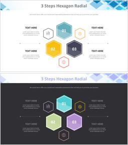Hexagon 방사형 3 단계 다이어그램_00