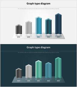 3D Bar Infographic 다이어그램_00