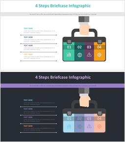 4 단계 서류 가방 Infographic 다이어그램_00
