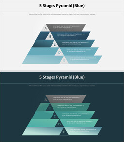 5 단계 피라미드 다이어그램 (파란색)_00