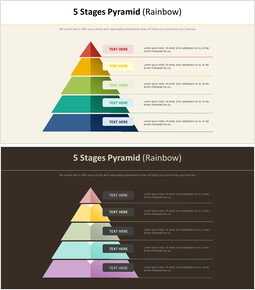 5 단계 피라미드 다이어그램 (레인보우)_00
