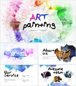 Art Painting PowerPoint Templates Design_00