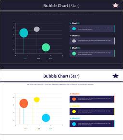 Bubble Chart (Star)_4 slides