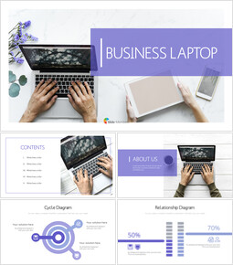 Business laptop PowerPoint Templates_00