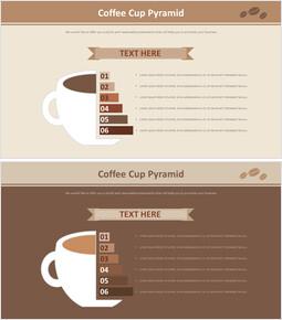 커피 컵 피라미드 다이어그램_2 slides