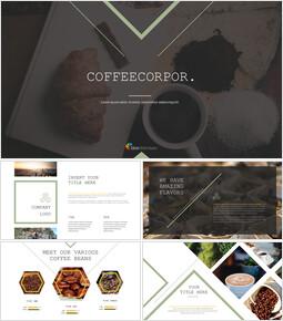 커피 산업 Google 슬라이드 프레젠테이션 템플릿_00